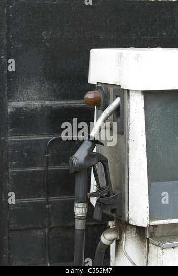Old fashioned petrol pump - Stock Image