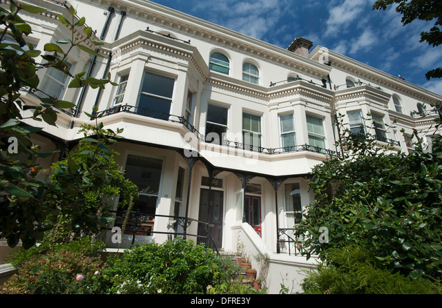 A beautiful Victorian seaside villa in Brighton, England, UK - Stock Image