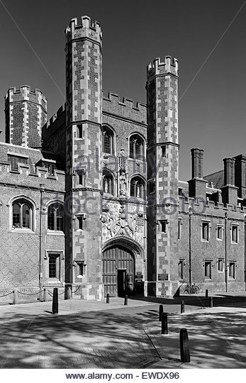 Great Gate of St John's College Cambridge - Stock Image