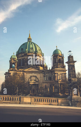The Berlin Dom located in Berlin, Germany - Stock Image