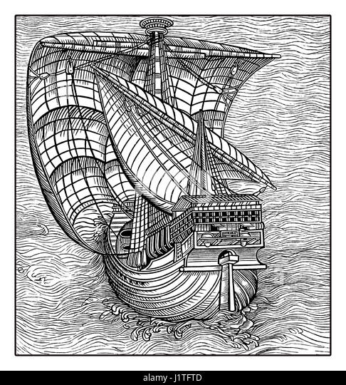 Caravel Illustration Stock Photos & Caravel Illustration ...
