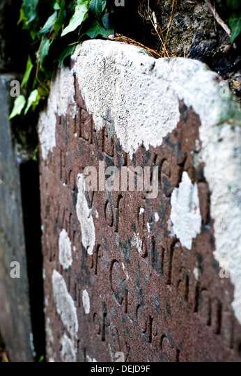 Old Gravestone in Devon, Dartmouth - Stock-Bilder