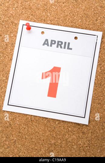 Calendar April Fools : April fools stock photos images alamy