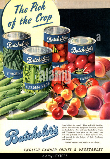 1940s UK Batchelors - Stock Image