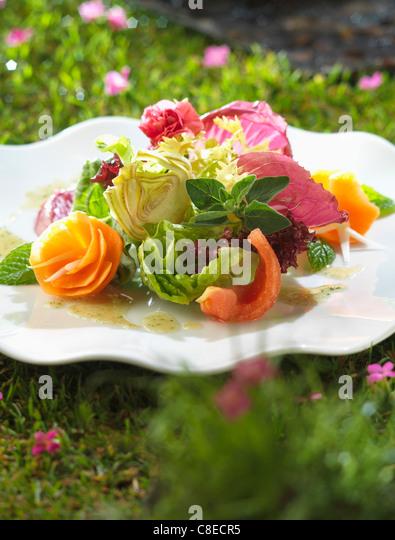 Mixed salad - Stock Image