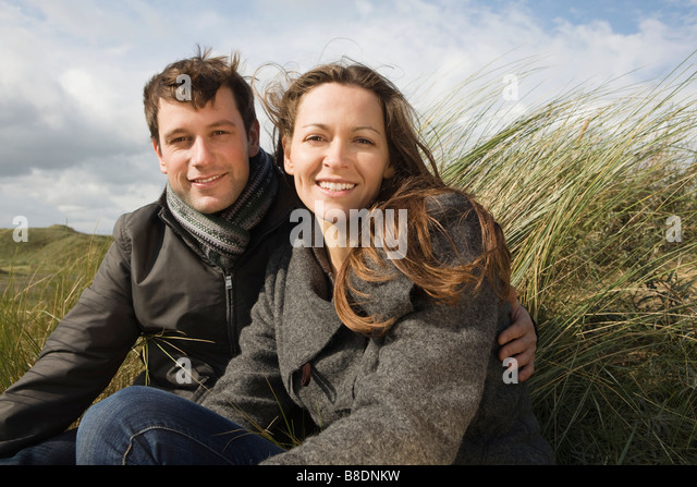 Couple outdoors - Stock Image
