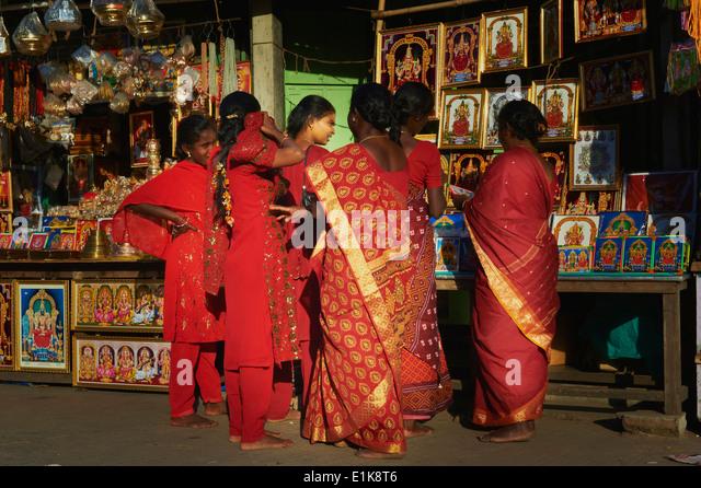 India, Tamil Nadu, Kanchipuram, Kamakshi Amman - Stock Image