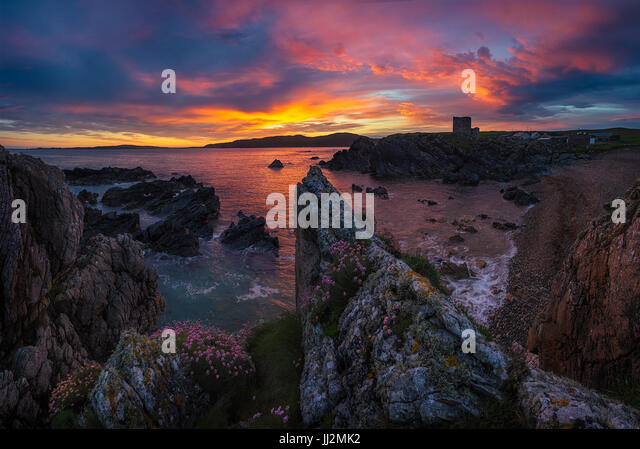 The Castles - Donegal - Stock Image