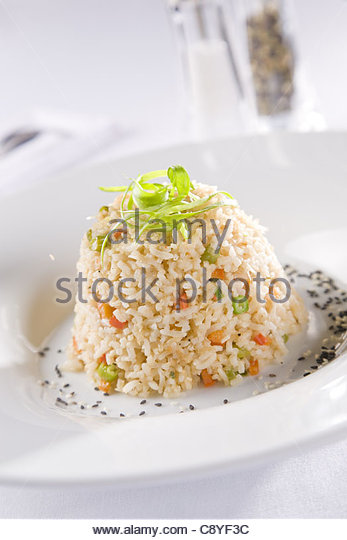 Vegetarian Risotto - Stock Image