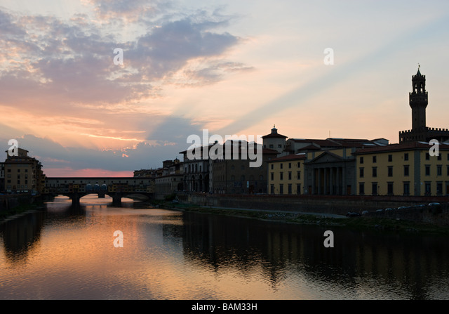 River arno in florence - Stock Image