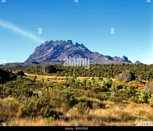 Mawenzi, 5148 metres, Mount Kilimanjaro, National Park, Tanzania, East Africa - Stock-Bilder