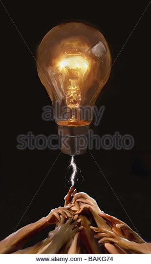 Bright Light Bulb - Stock-Bilder