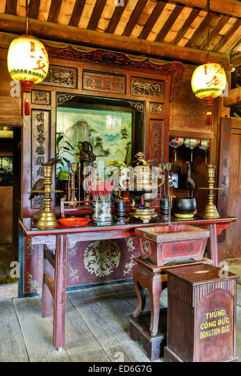 Shrine, Japanese Covered Bridge, Hoi An, Vietnam - Stock-Bilder