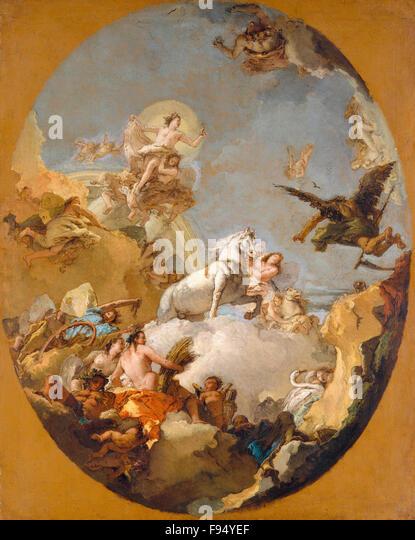 Giovanni Battista Tiepolo - The Chariot of Aurora - Stock Image