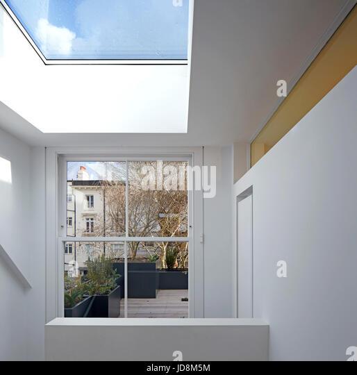 Interior view from top floor. Notting Hill House, London, United Kingdom. Architect: Michaelis Boyd Associates Ltd, - Stock-Bilder