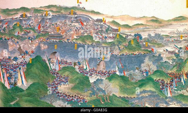 Regaining Jinling -  A scene of the Taiping Rebellion, 1850 - 1864 - Stock-Bilder