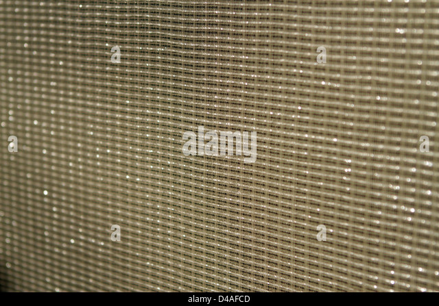 Speaker mesh texture - up close - Stock Image