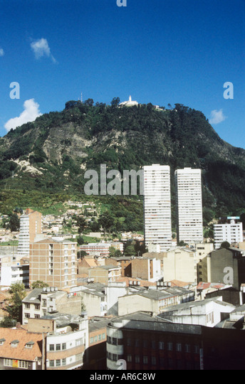 Monserrate hill and bogota - Stock Image