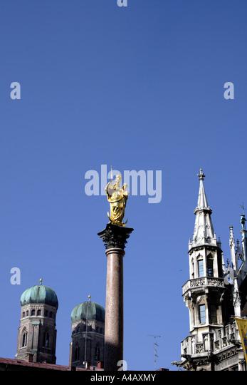 Marienplatz Munich Bavaria Germany Europe. Photo by Willy Matheisl - Stock-Bilder