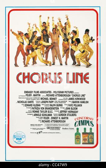 Manifesto, Cinema, 20th Century. Chorus Line, 1985. Directed By Richard Attenborough. - Stock Image