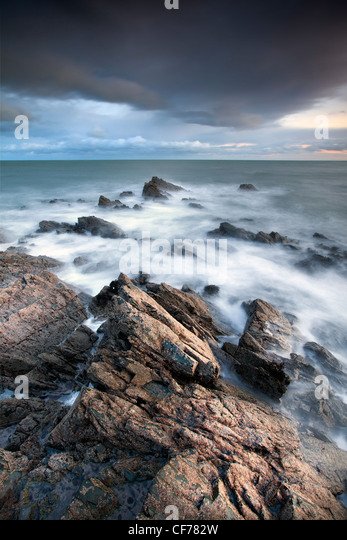Coastal view from Dundrum Bay, County Down. - Stock-Bilder