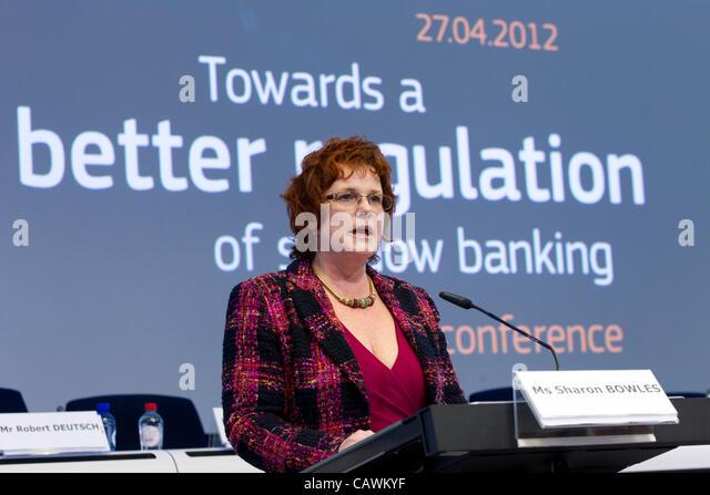 sharon bowles mep economic monetary affairs europe - Stock Image