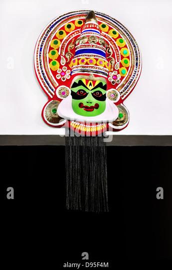 Kathakali face - Arjuna - Stock Image