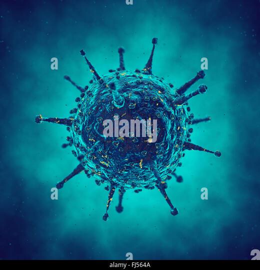 Virus cell , viral disease epidemic , Infection - Stock Image