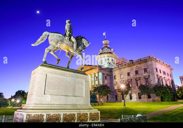 Columbia, South Carolina, USA at the State House. - Stock Image