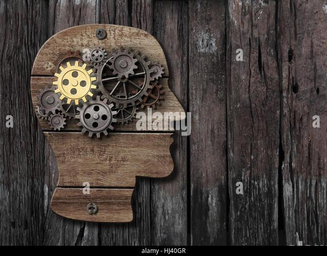 brain activity, psychology, memory concept - Stock Image