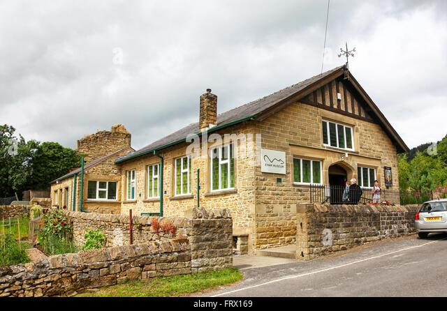 Eyam Museum in the plague village of Eyam Derbyshire England UK - Stock Image