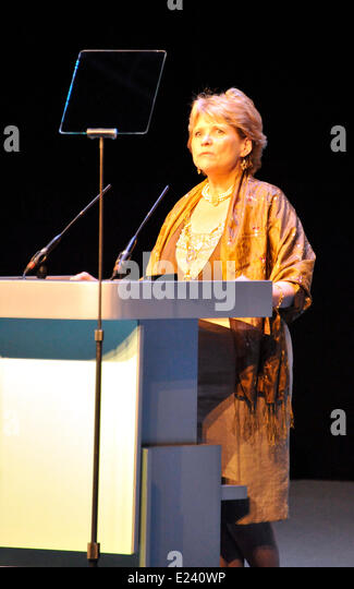 Liverpool UK 15th June 2014. RCN - Royal College of Nurses Annual Congress opens in Liverpool today. Standing Andrea - Stock Image