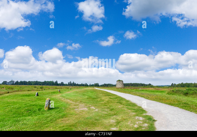 The Battlefield at Culloden, near Inverness, Highland, Scotland, UK - Stock Image