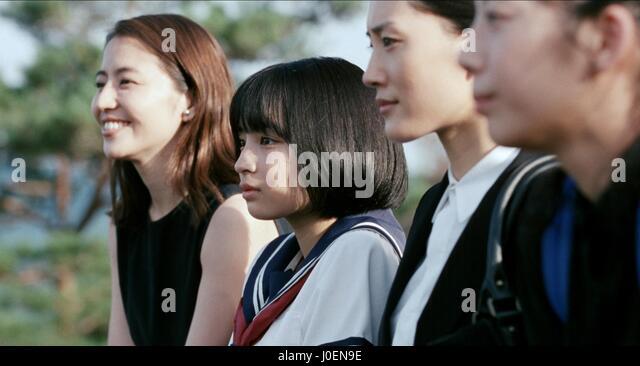 HARUKA AYASE SUZU HIROSE MASAMI NAGASAWA & KAHO OUR LITTLE SISTER; UMIMACHI DIARY (2015) - Stock Image