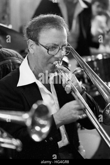 George Masso, at the 1982 Kool Jazz Festival - Stock Image
