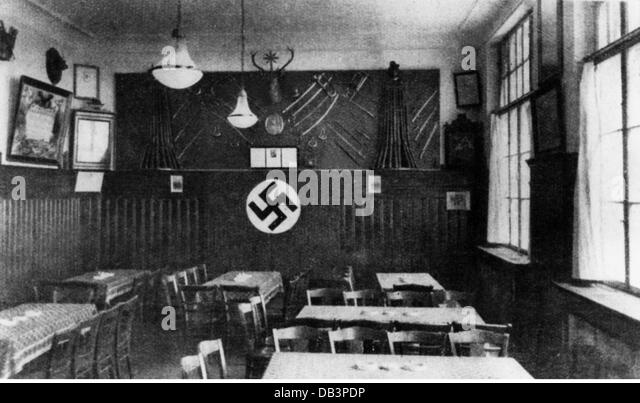 National Socialism, political organisation, first meeting room of the NSDAP in 'Leiberzimmer' of the Sternecker - Stock Image