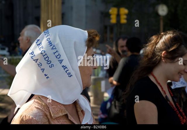 Las Madres, Placa de mayo, Buenos Aires, Argentina - Stock Image