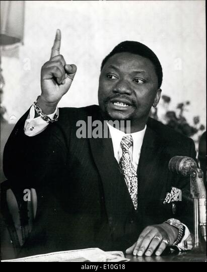 Oct. 10, 1972 - FOREIGN MINISTER OF ZAIRE LEAVES LONDON CLAIMING THAT HE WAS SNUBBED OVER HIS HOTEL BOOKING MR NGUZA - Stock-Bilder