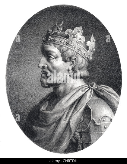 French aristocrat Pepin le Bref or Pepin the Younger or Pepin III or Pippin the Short, King of the Franks - Stock Image