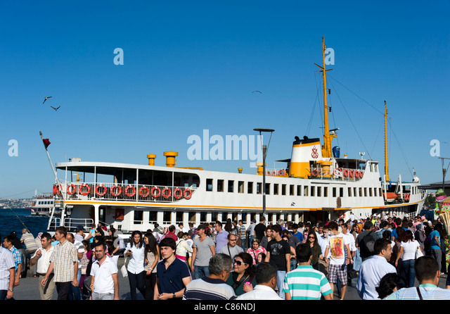 Ferry terminal in Eminonu, Istanbul, Turkey - Stock Image