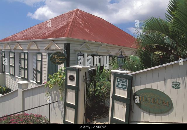 Haagensen House Museum St Thomas  USVI   Charlotte Amalie  built by Danish banker Hand Haagensen - Stock Image