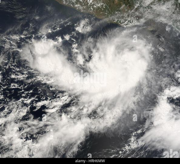 Tropical Storm Barbara, 2007 - Stock Image