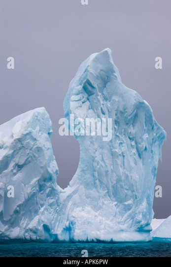 Iceberg graveyard on the Antarctic Peninsula - Stock Image