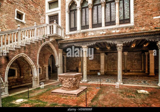 Galleria Giogio Franchetti alla Ca D Oro, Patio, Venedig, Venezia, Venice, Italia, Europe, - Stock Image