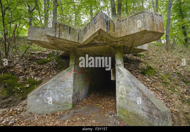 Remains of a dynamite factory, Germany - Stock Image