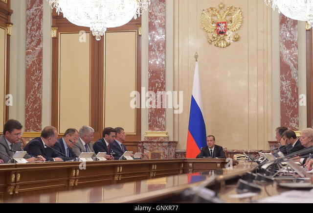 MOSCOW, RUSSIA - SEPTEMBER 1, 2016: Russia's Energy Minister Alexander Novak, Russia's Construction, Housing - Stock Image