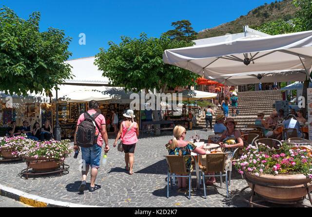piazza vittorio in anacapri on the island of capri, italy. - Stock Image