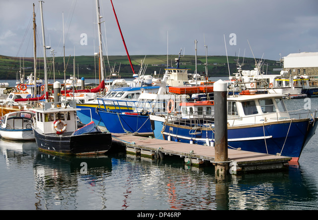 Dingle Harbour fishing boats, Dingle Town,Countyu Kerry,  Ireland - Stock Image