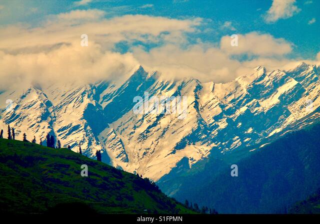 Snow peaks - Stock-Bilder