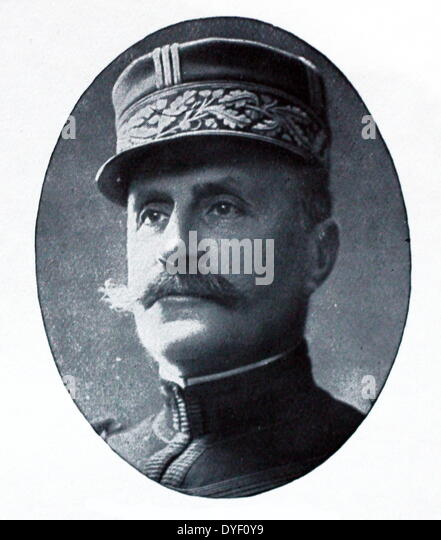 Marshal Ferdinand Foch a French soldier and Military theorist - Stock Image